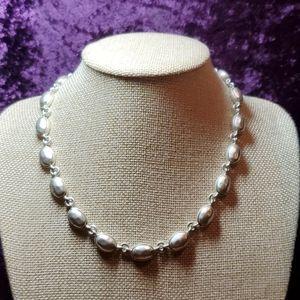Base Metal Oval-shaped Link Necklace